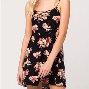 Full Tilt Black Floral Dress